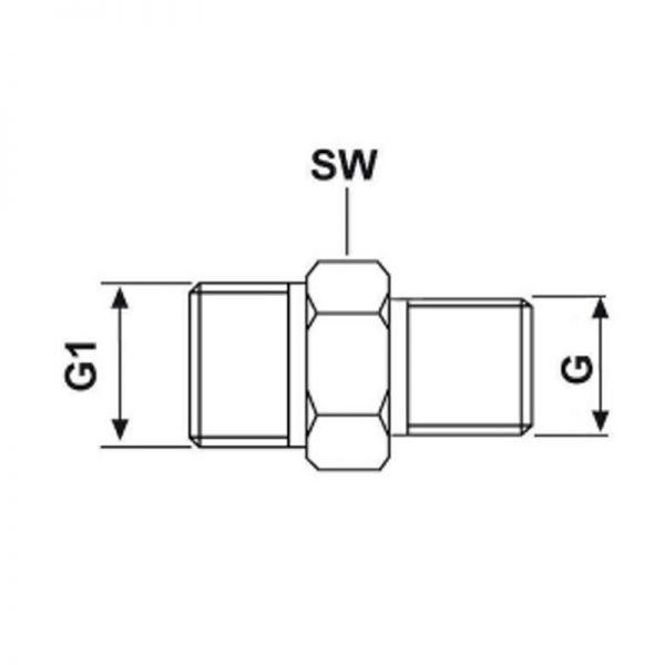 Adapter / Doppelnippel