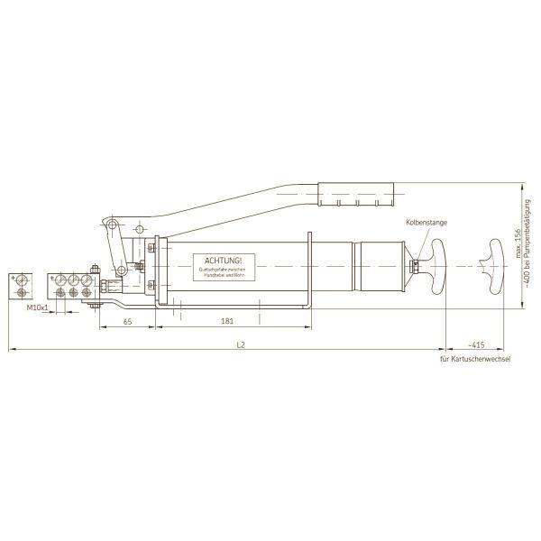 Handhebelfettpresse mit 3-fach Verteiler