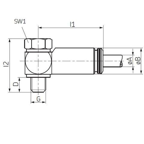 SKF Steckverschraubung schwenkbar Schwenkverschraubung Steckanschluss