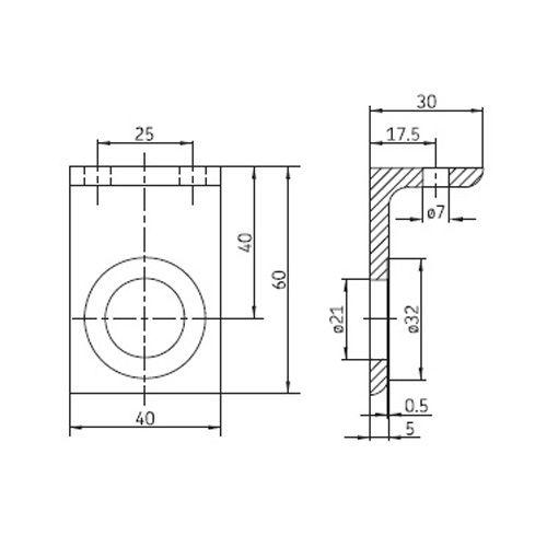 SKF Montagewinkel für Kupplungsmuffe
