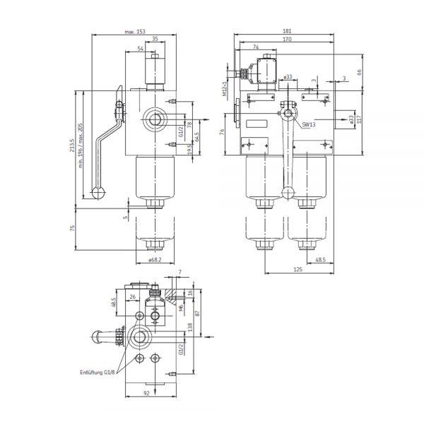 Doppelschaltfilter nach DIN 24550