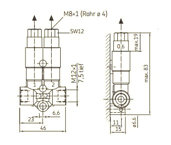 SKF MonoFlex Vorschmierverteiler 352