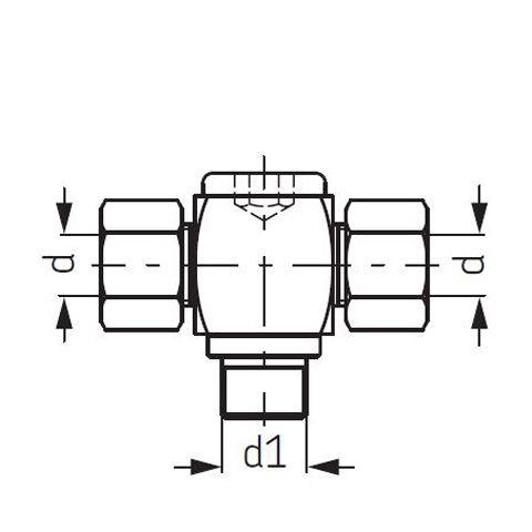 SKF T-Einschraubverschraubung