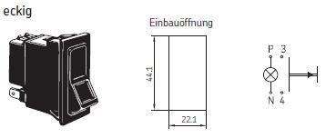 SKF - Leuchtdrucktaster, eckig