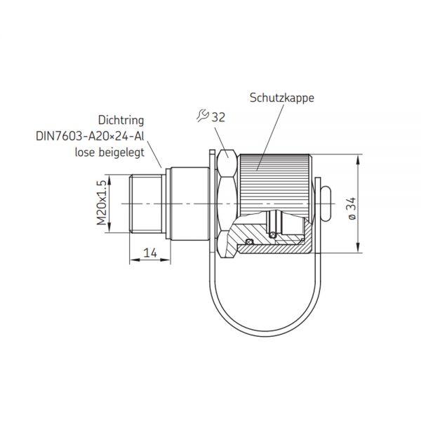 Befüllanschluss für SKF Befüllzylinder