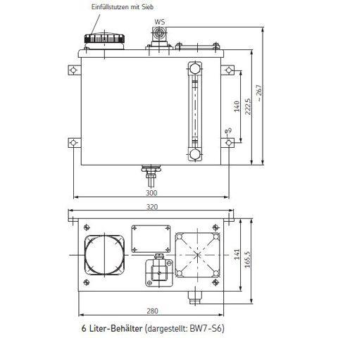 SKF-Ölbehälter / Metallbehälter