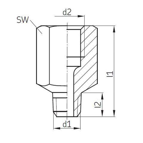 Durchgangsstück / Anschlussstück SKF / Vogel