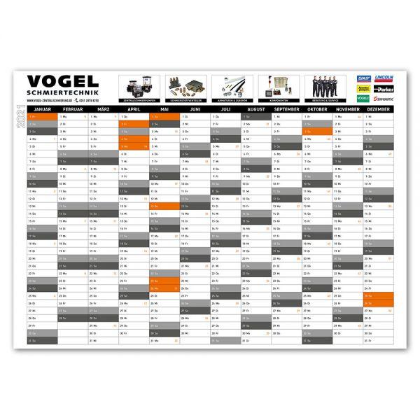 Vogel Schmiertechnik A0 Kalender 2021