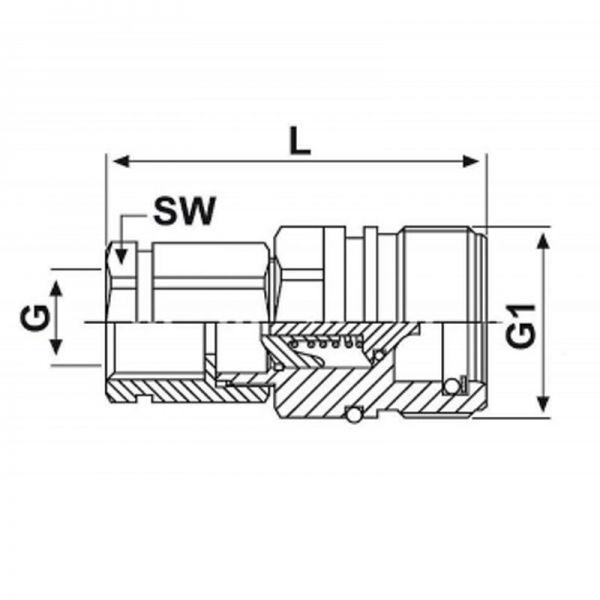 Schraubkupplung Stecker