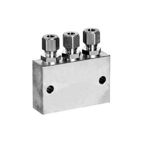 Druckluftverteiler für 3 Düsen