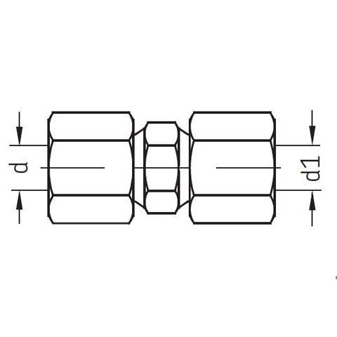 Gerade Verschraubung / Rohrverbinder