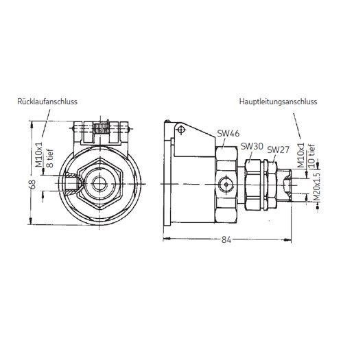 SKF Kupplungsmuffe mit Rücklaufanschluss