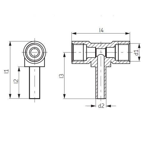 T-Stück SKF Vogel T-Verschraubung