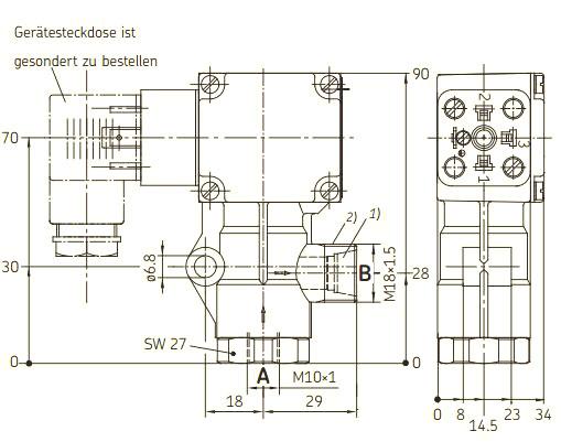 Maßbild 1 Strömungswächter 171-100-011