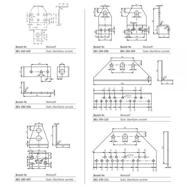 SKF Montagewinkel für Verteilerbefestigung