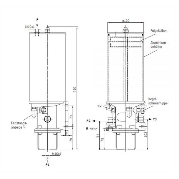 Pneumatikpumpen PFP-23-2-S1 / PFP-23-22-S1