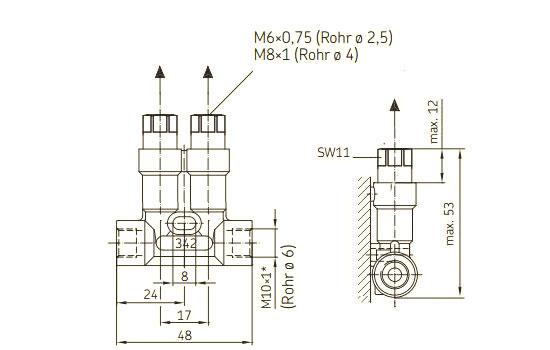 SKF Kolbenverteiler 342