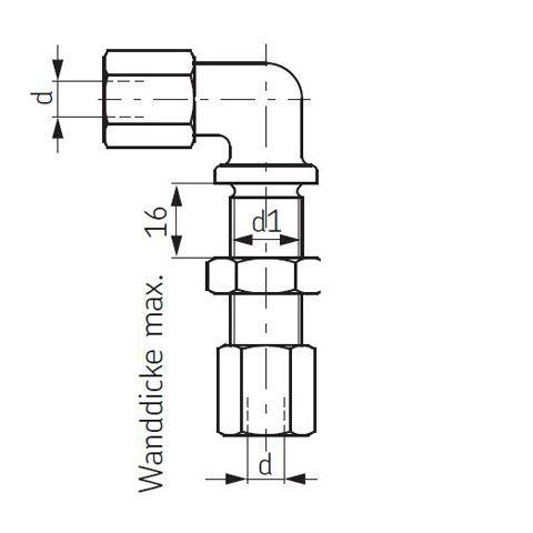 Schottverschraubung Winkel 90°-Schottverschraubung SKF Vogel
