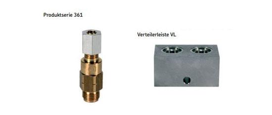 SKF Impulsverteiler 361 mit Verteilerleiste VL