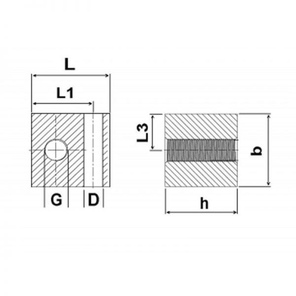 Nippelblöcke Edelstahl - 1 Durchgangsbohrung