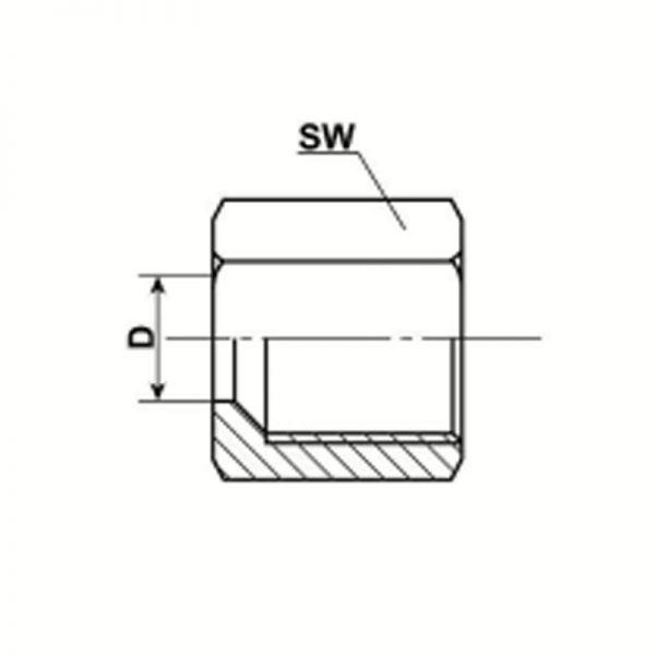 Überwurfmuttern Stahl, galvanisiert