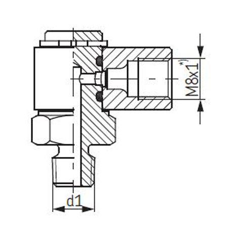 SKF-Schwenkverschraubung, drehbar